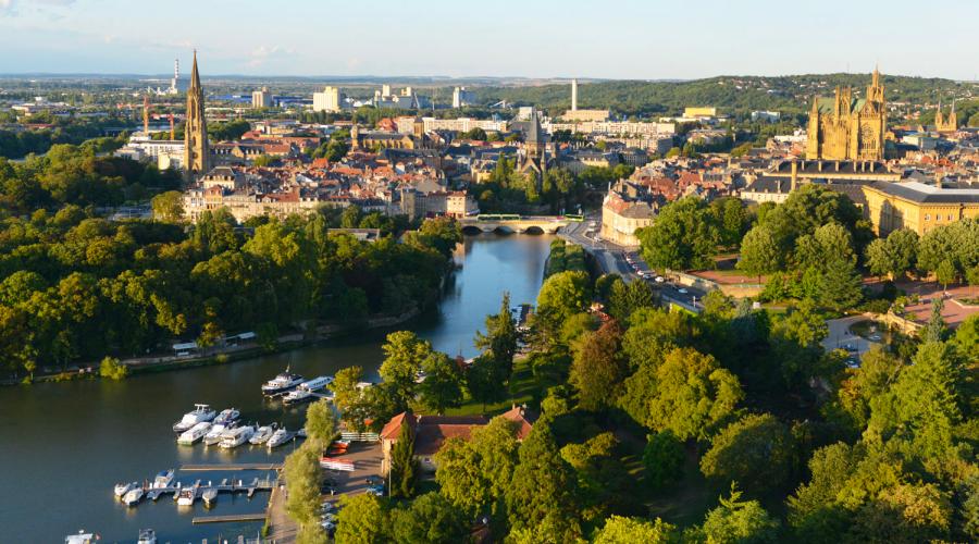 Plan d'eau de Metz et bords de Moselle